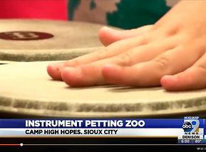 Instrument Petting Zoo at Camp High Hopes