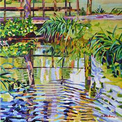 Duck Pond 21 54 x 54 cm, olja