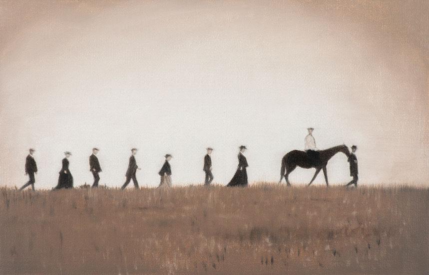 Procession, 48 x 42 cm