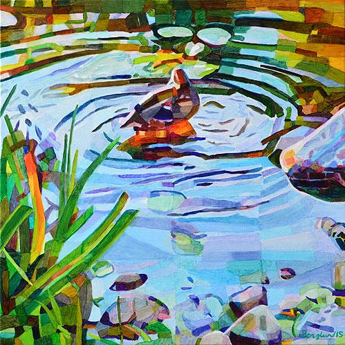 Duck Pond 33, 54 x 54 cm, olja