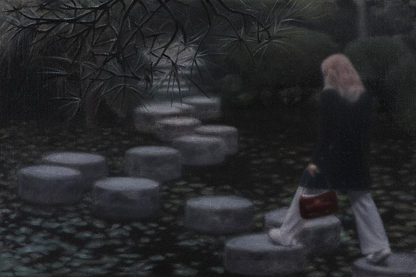 Jumping Stone Pond, 48 x 42 cm