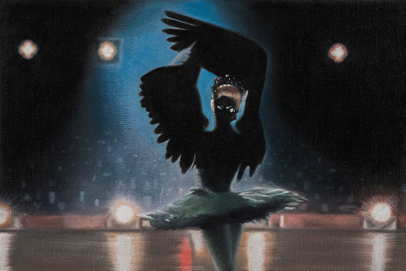Black Swan, 48 x 42 cm