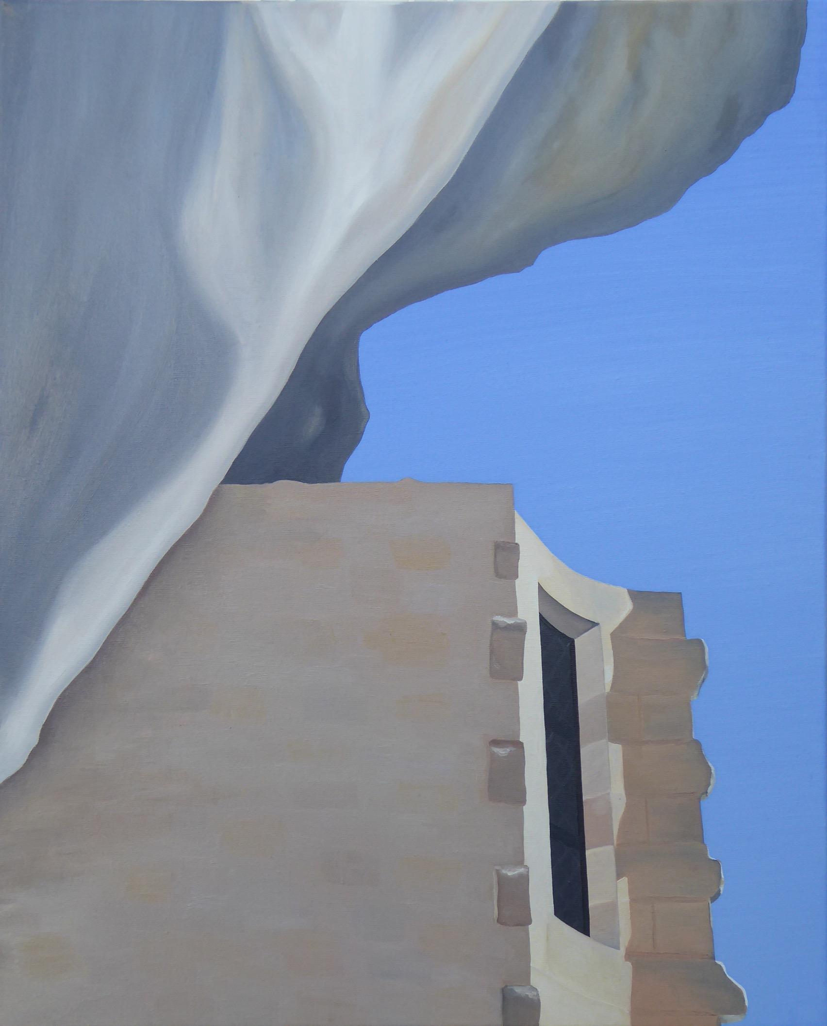 Les Eyzies X, olja/duk, 60x73 cm