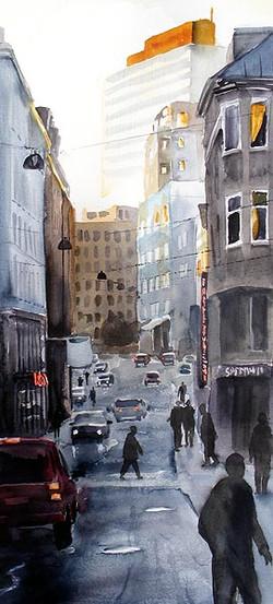 City, 30 x 70 cm