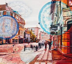 Mønster og gade, 90 x 100 cm