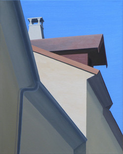 Périgueux III, olja/duk, 33x41 cm