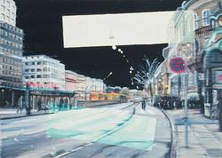 Nørreport station, 50 x 70 cm