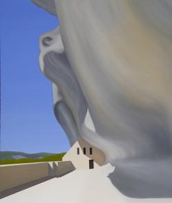 Les Eyzies IV, olja/duk, 100x120 cm