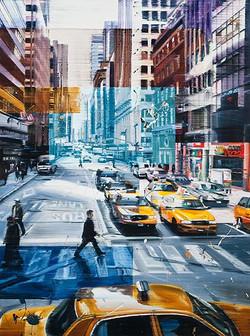 Taxi, Taxi, 120 x 90 cm