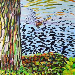 Duck Pond 34, 54 x 54 cm, olja