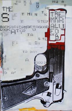 Gun!!!, 125x195 cm