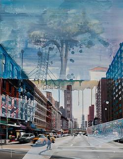 Last city tree, 90 x 70 cm