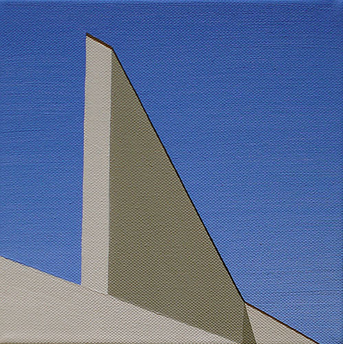 Arken IV, olja på duk, 20x20 cm