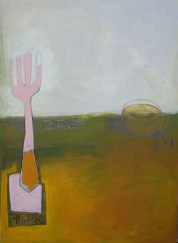 Green Fork, 70x100 cm