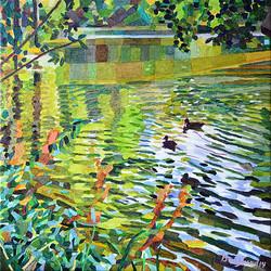 Duck Pond 22 54 x 54 cm, olja