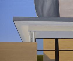 Les Eyzies III, olja/duk, 43x38 cm
