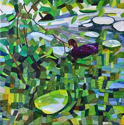 Duck Pond 27, 54 x 54 cm, olja
