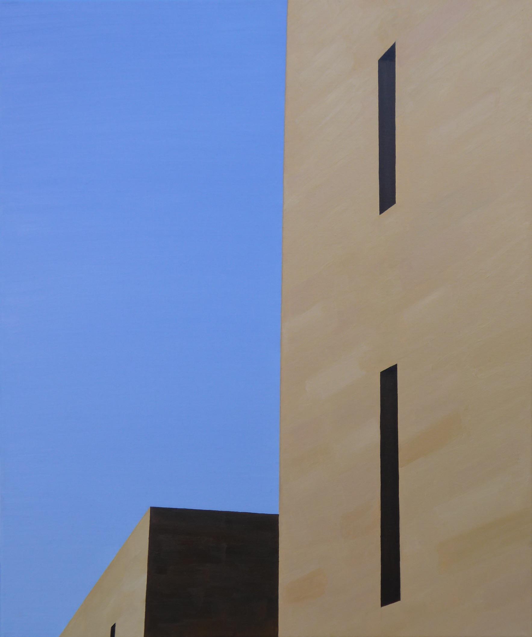 Les Eyzies VIII, olj/duk, 50x61 cm