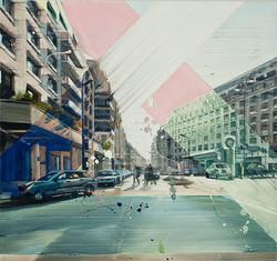 Paris triangle II, 70 x 75 cm