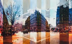 Standing on the corner, 80 x 130 cm