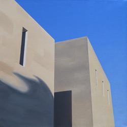 Les Eyzies VI, olja/duk, 40x40 cm