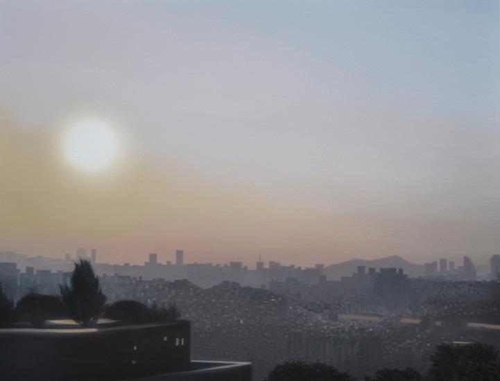 Seoul sunrise, 116 x 89 cm