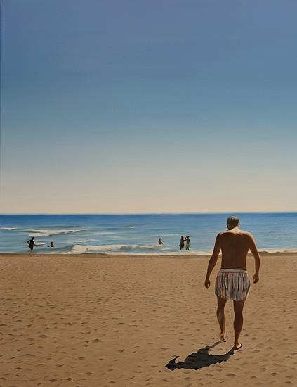 Stranden, 89 x 116 cm