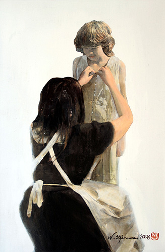 Tadzio från Lido, akryl, linneduk
