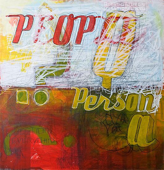 Person A, 70 cm x 70 cm