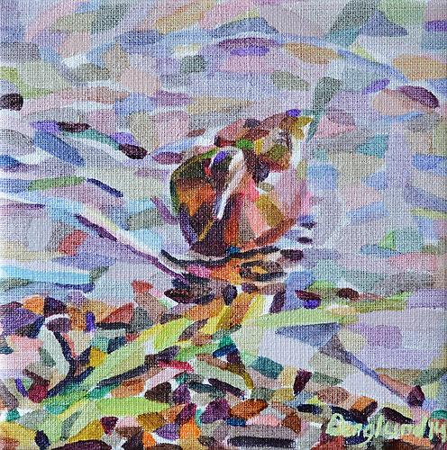 Duck Pond 23, 20 x 20 cm, olja