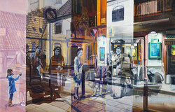 Visitors, 55 x 85 cm
