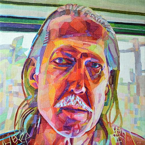 Selfie, 54 x 54 cm, olja