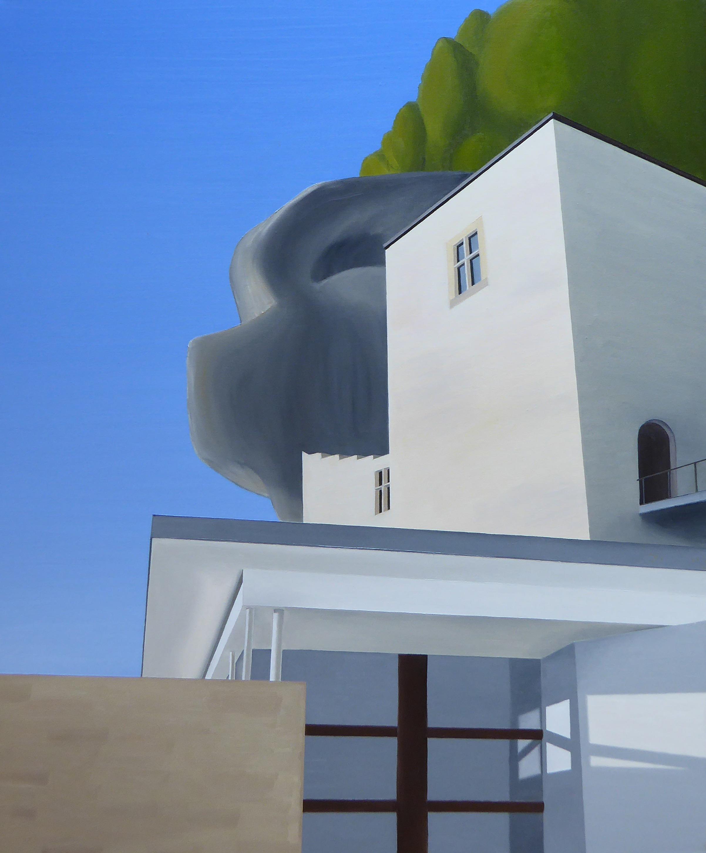 Les Eyzies I, olja/duk, 65x81 cm