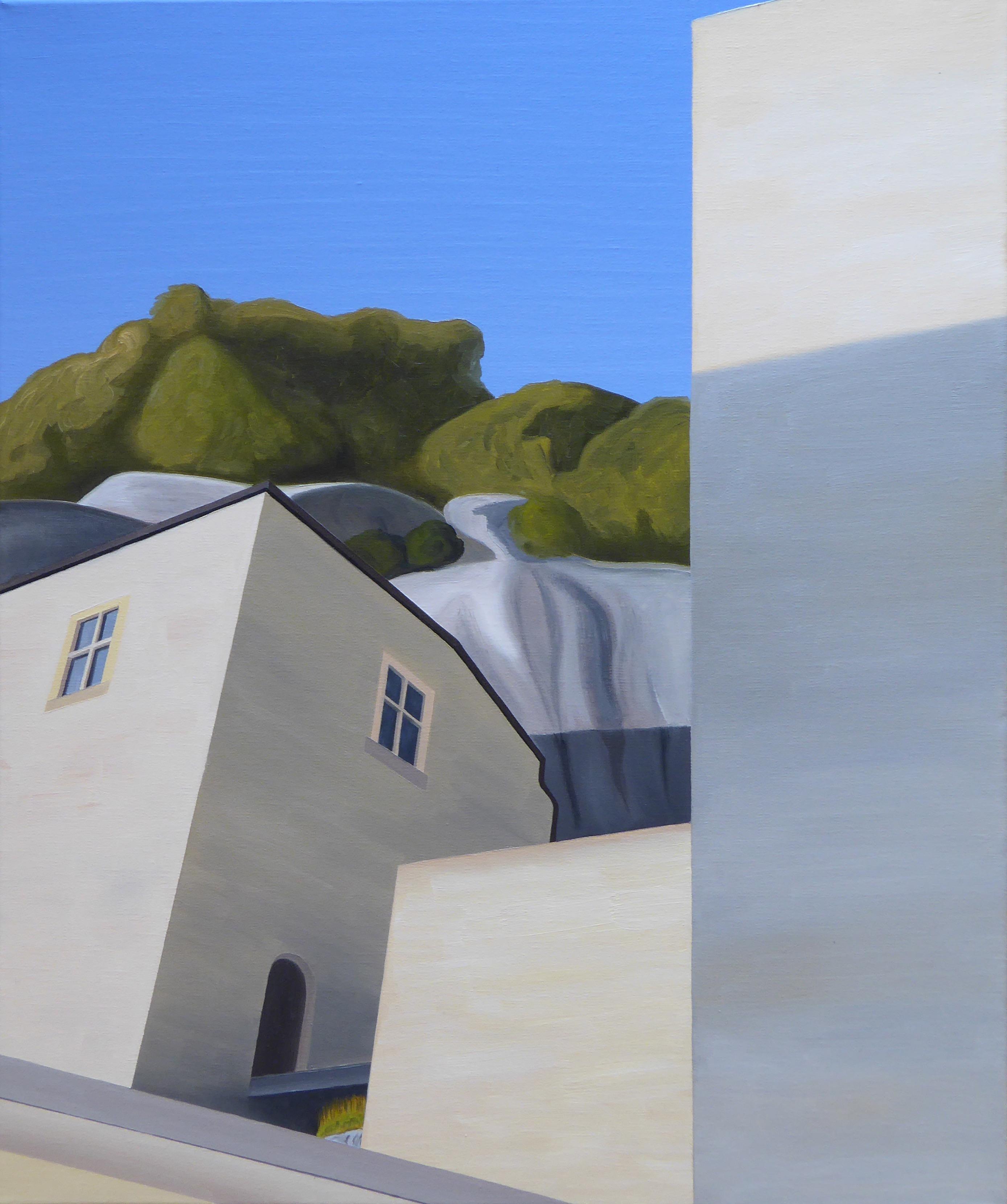 Les Eyzies V, olja/duk, 50x61 cm