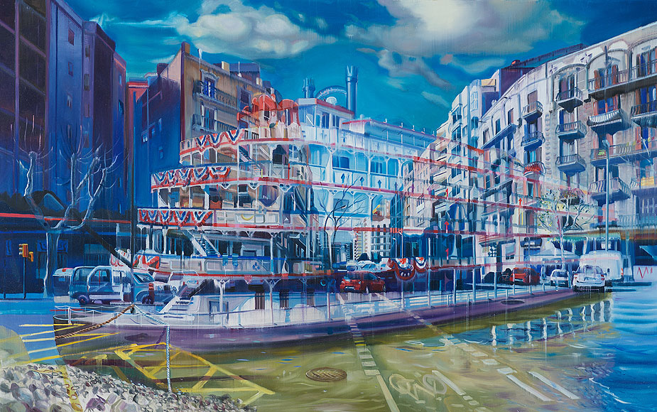 The Ship Arriving, 85 x 135 cm