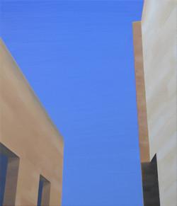 Les Eyzies IX, olja/duk, 38x46 cm