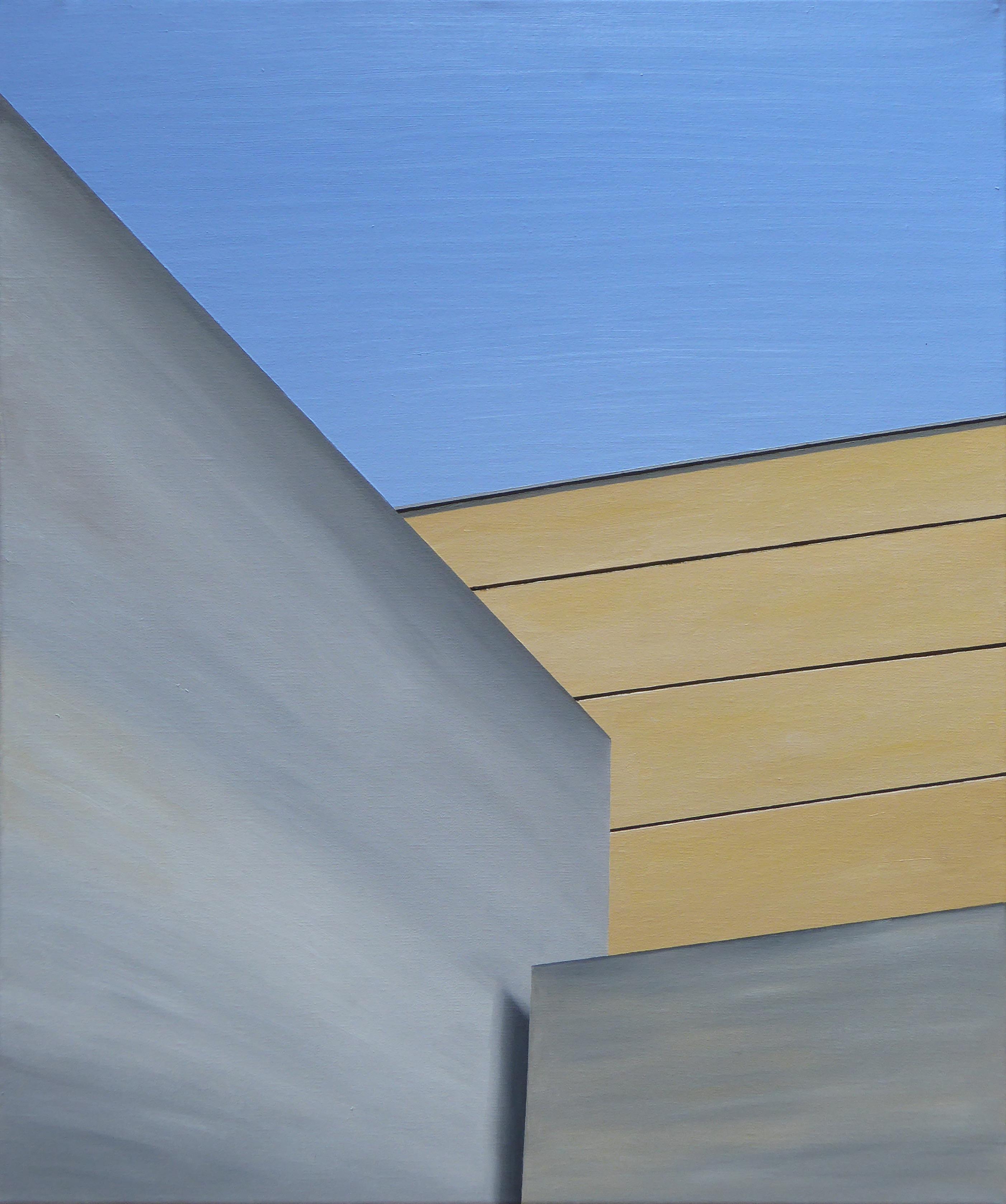 Les Eyzies VII, olja/duk, 50x61 cm