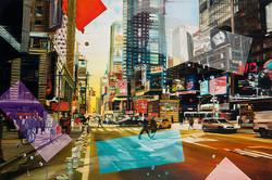 Time Square rush, 80 x 120 cm