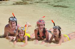 Family snorkeling fun!