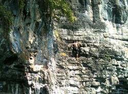 Climbing - deep water solo