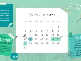 Calendrier de janvier 2021 !