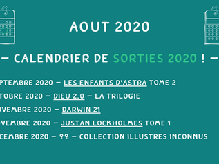 Calendrier Août 2020