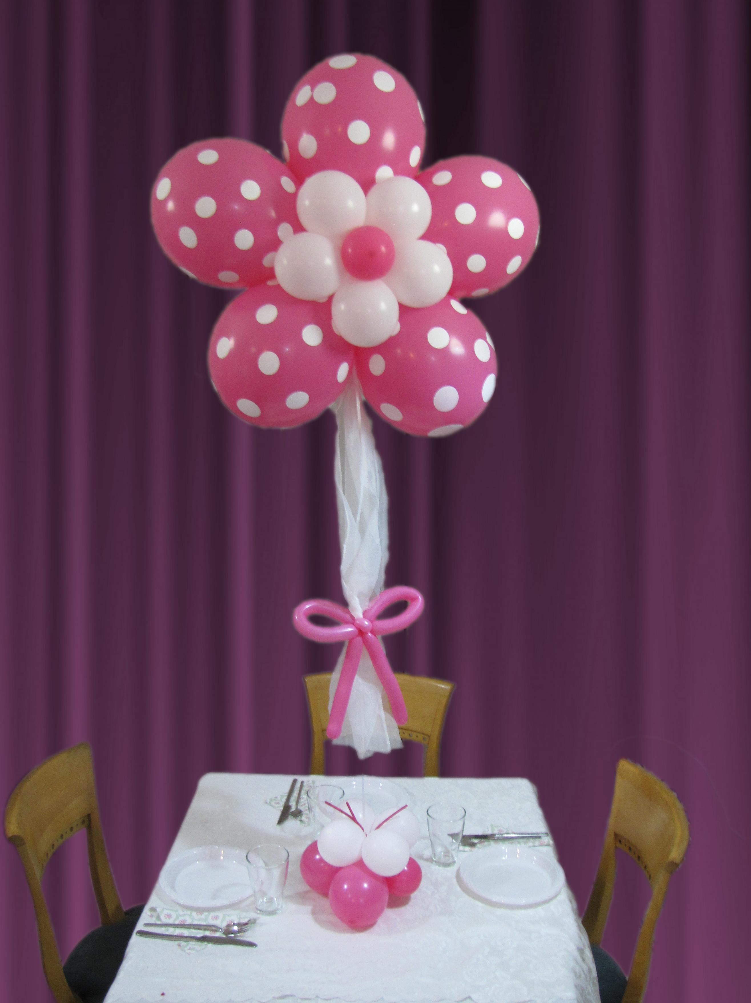 מרכז שולחן פרח ורוד