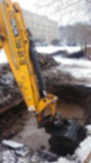 Авариийные работы на сетях водоснабжения и водоотведения
