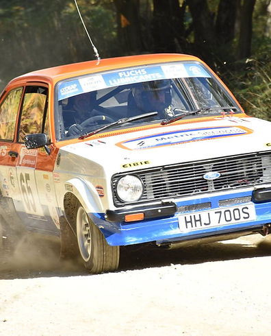 Nathan Marriott and Lee Ashberry at the Trackrod Rally Yorkshire