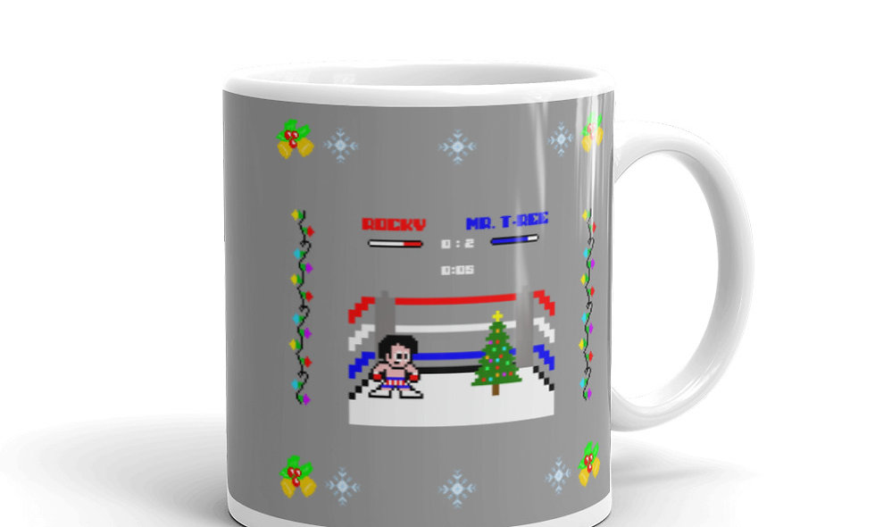 Rocky, A Round With A Christmas Tree Mug
