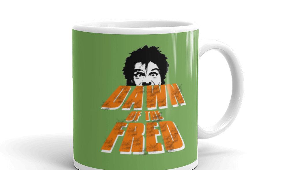 Dawn of the Fred (Dead)White glossy mug