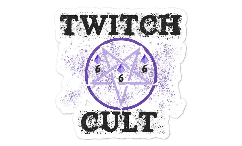 Twitch Cult Bubble-free stickers