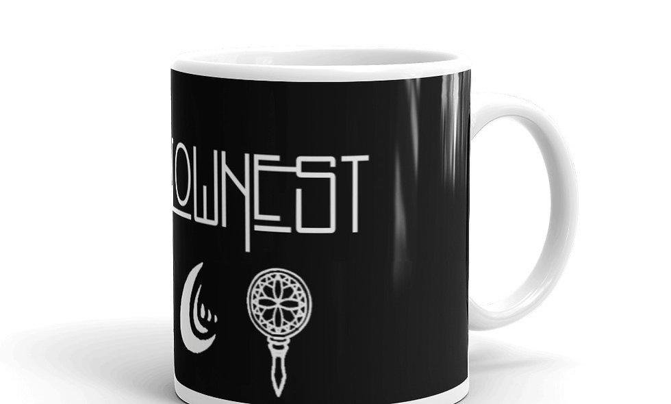 Hallowed Be Thy Nest White glossy mug