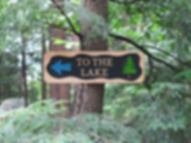 To The Lake Wooden Sign
